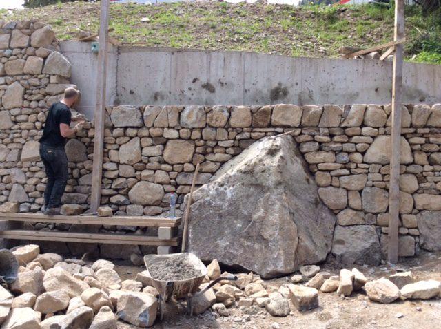 mortar wall
