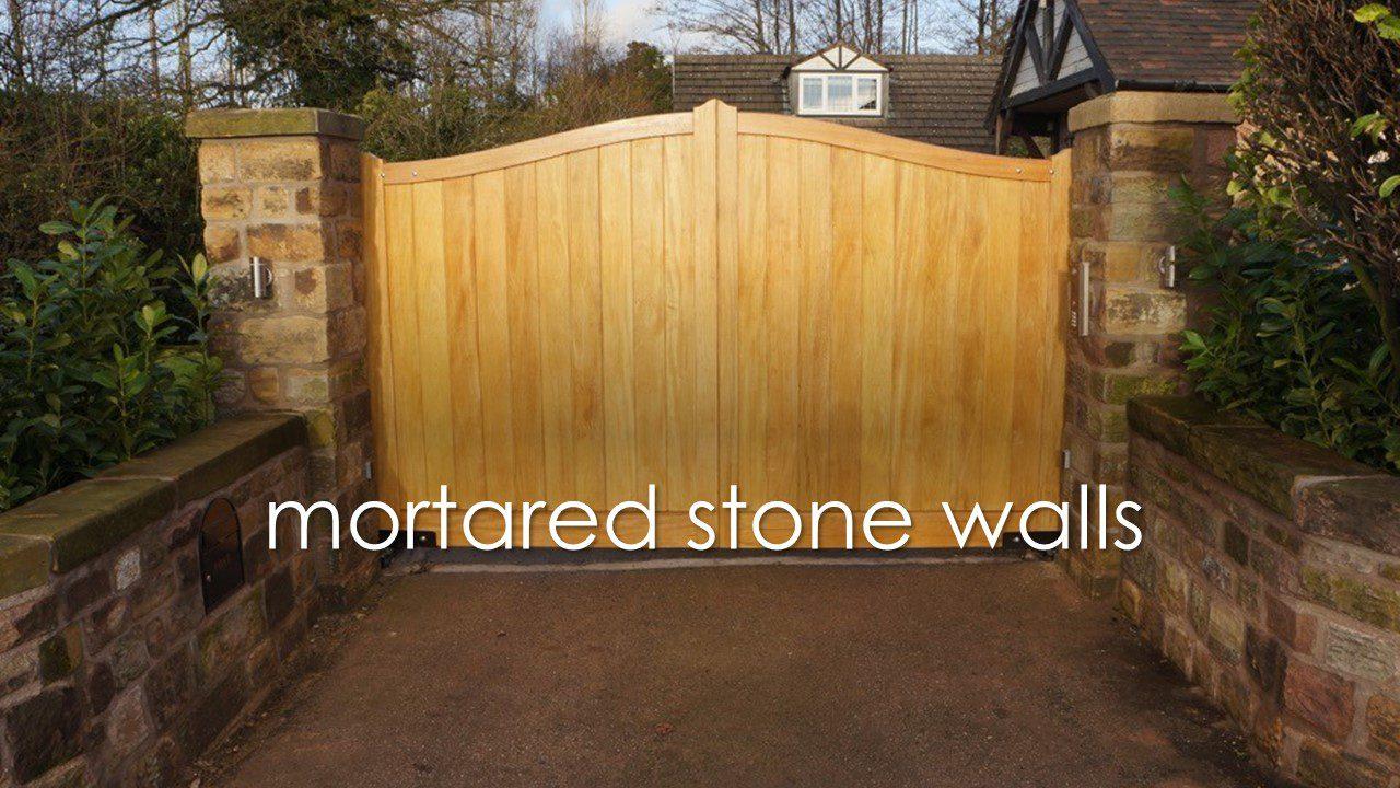 mortared stone walls